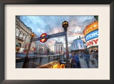 The London Underground - Piccadilly Framed Photographic Print by Trey Ratcliff
