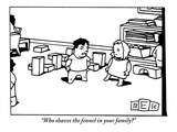 """Who shaves the fennel in your family?"" - New Yorker Cartoon Premium Giclee Print by Bruce Eric Kaplan"