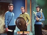"Star Trek: The Original Series, Dr. McCoy, Captain Kirk and Mr. Spock in ""Plato's Stepchildren"" Photo"