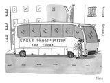 A man is seen standing next to a tour bus. - New Yorker Cartoon Premium Giclee Print by Zachary Kanin