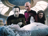 Star Trek: The Next Generation, Commander Captain Jean-Luc Picard, Lt. Commander Data, and Counselo Photo