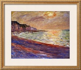 Beach at Pourville, Sunset, 1882 Framed Giclee Print by Claude Monet