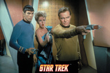 Star Trek: The Original Series, Captain Kirk and Mr. Spock wuth a Damsel in Distress Photo