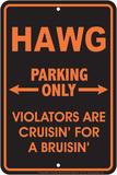 Hawg Parking Only Plaque en métal