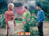 "Star Trek: The Original Series, Captain Kirk and Mr. Spock in ""The Apple"" Print"