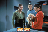 Star Trek: The Original Series, Captain Kirk and Spock with Alien Dog Rhylo Photo