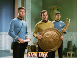 "Star Trek: The Original Series, Dr. McCoy, Captain Kirk and Spock in ""Plato's Stepchildren"" Photo"