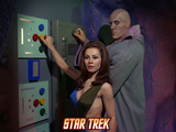 Star Trek: The Original Series, Ruk and Femals Android Space Babe Turning Knobs Photo