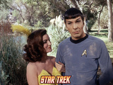 "Star Trek: The Original Series, Spock and Attractive Femal in ""Shore Leave"" Photo"