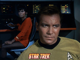 Star Trek: The Original Series, Captain James T. Kirk and Uhura in Background Prints