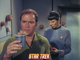 "Star Trek: The Original Series, Captain Kirk and Mr. Spock in ""The Trouble with Tribbles"" Photo"