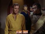 "Star Trek: The Original Series, Captaain Kirk, Spock and Klingon in ""Errand of Mercy"" Photo"