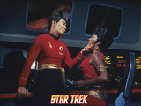 "Star Trek: The Original Series, Sulu's Counterpart with Uhura's Counterpart in ""Mirror, Mirror"" Print"