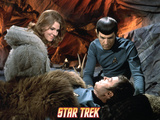 "Star Trek: The Original Series, Zarabeth, Spock, and Dr. McCoy in ""All Our Yesterdays"" Photo"