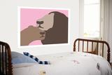 Pink Lion Affiches par  Avalisa