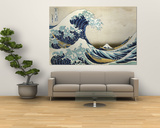Katsushika Hokusai - The Great Wave of Kanagawa , c.1829 - Reprodüksiyon