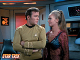 "Star Trek: The Original Series, Captain Kirk and Odona in ""The Mark of Gideon"" Photo"
