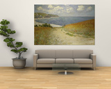 Strandweg zwischen Weizenfeldern bei Pourville, 1882 Kunstdruck von Claude Monet