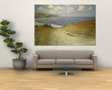 Cammino al mare tra campi di grano a Pourville, 1882 Poster di Claude Monet
