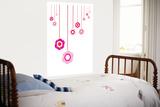 Pink Hanging Flowers Affiche par  Avalisa