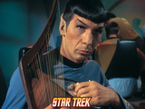 Star Trek: The Original Series, Spock Playing a Stringed Instrument Photo