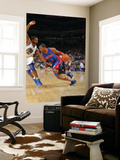 Detroit Pistons v Golden State Warriors: Tracy McGrady and Dorell Wright Prints by Rocky Widner