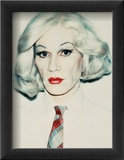 Self-Portrait in Drag, c.1981 (straight on) Posters by Andy Warhol