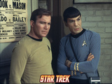 "Star Trek: The Original Series, Captain Kirk and Spock in ""The Planet on the Edge of Forever"" Posters"