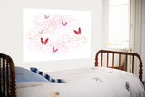 Pink Butterfly Trails Posters par  Avalisa