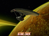 Star Trek: The Original Series, Starship near Planet Print