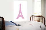 Pink Eiffel Tower Art by  Avalisa