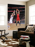 Toronto Raptors v Philadelphia 76ers: Andrea Bargnani and Spencer Hawes Print by David Dow