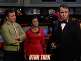 "Star Trek: The Original Series, Captain Kirk, Uhura and a Visage of Lincoln in ""The Savage Curtain"" Photo"