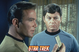 Star Trek: The Original Series, Dr. McCoy and Captain Kirk with a Communicator Prints