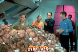 "Star Trek: The Original Series, Captain Kirk in ""The Trouble with Tribbles"" Print"
