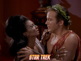 "Star Trek: The Original Series, Uhura and Kirk in ""Plato's Stepchildren"" Photo"