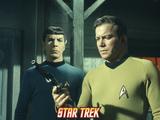 "Star Trek: The Original Series, Mr. Spock and Captain Kirk in ""Spectre of the Gun"" Photo"