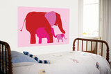 Pink Elephants Art by  Avalisa