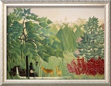 The Waterfall, 1910 Framed Giclee Print by Henri Rousseau