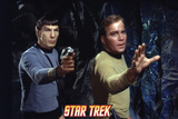 "Star Trek: The Original Series, Mr. Spock and Captain Kirk in ""The Devil in the Dark"" Poster"