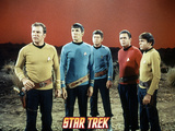 Star Trek: The Original Series, Captain Kirk, Mr. Spock, Dr. McCoy, Chekov and Scotty Prints