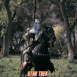 "Star Trek: The Original Series, A Knight with a Lance on a Black Horse on ""Shore Leave"" Photo"