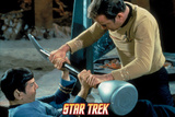 "Star Trek: The Original Series, Spock and Captain Kirk Battle in ""Amok Time"" Posters"
