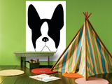 Blue Boston Terrier Posters by  Avalisa