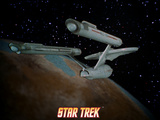 Star Trek: The Original Series, Starship near Planet Prints