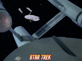 Star Trek: The Original Series, The USS Constellation NCC - 1017 Behind Another Starship Photo