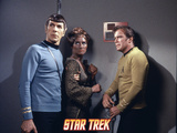 "Star Trek: The Original Series, Spock, Captain Kirk and Mara in ""Day of the Dove"" Photo"