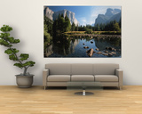 Valley View of El Capitan, Cathedral Rock, Merced River in Yosemite National Park, California, USA Prints by Dee Ann Pederson