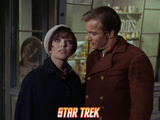 "Star Trek: The Original Series, Edith Keeler and Captain Kirk, ""The Planet on the Edge of Forever"" Print"