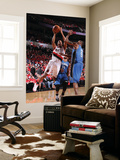 Orlando Magic v Portland Trail Blazers: Rashard Lewis and Andre Miller Prints by Sam Forencich